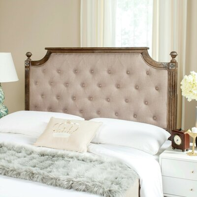 Parada Upholstered Panel Headboard Color: Taupe, Size: Full