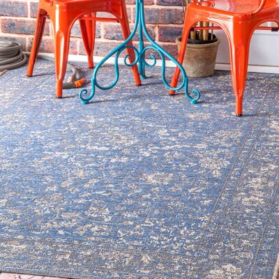 Dunstan Blue Indoor/Outdoor Area Rug Rug Size: 710 x 112