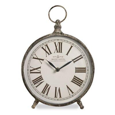 Rustic Round Desk Clock