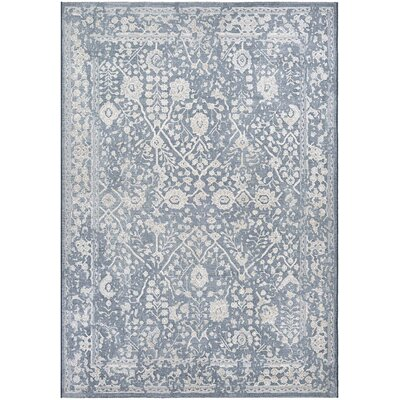 Elise Slate Blue/Oyster Area Rug Rug Size: Rectangle 53 x 76