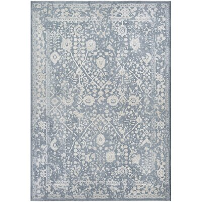 Elise Slate Blue/Oyster Area Rug Rug Size: Rectangle 92 x 129