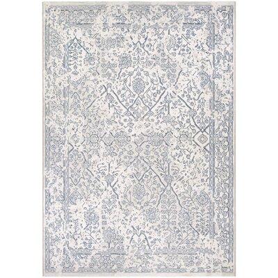 Elise Oyster/Slate Blue Area Rug Rug Size: 53 x 76
