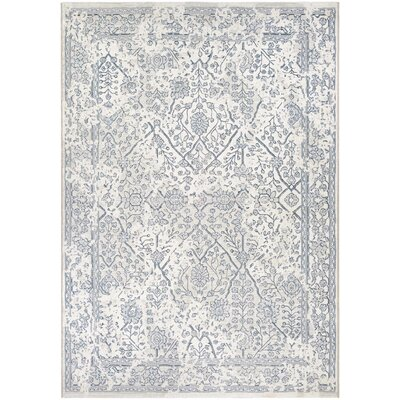Elise Oyster/Slate Area Rug Rug Size: Rectangle 710 x 109
