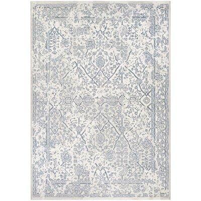 Elise Oyster/Slate Blue Area Rug Rug Size: 710 x 109