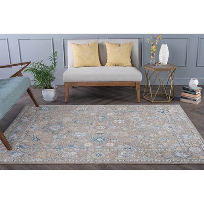 Clementine Traditional Gray/Taupe Area Rug Rug Size: Runner 27 x 73