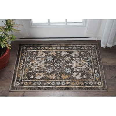 Clementine Traditional Taupe Area Rug Rug Size: 2 x 3
