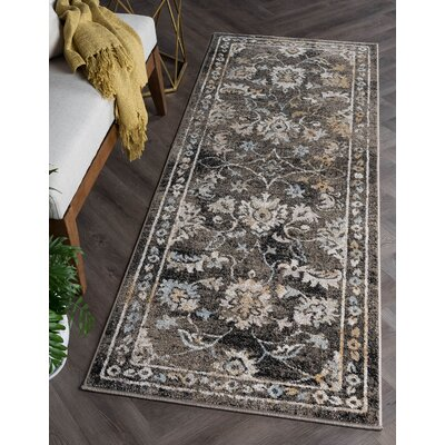 Clementine Traditional Taupe Area Rug Rug Size: Runner 27 x 73