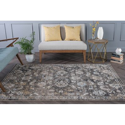 Clementine Traditional Taupe Area Rug Rug Size: 53 x 73