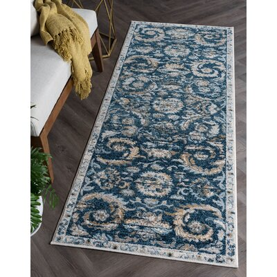 Owings Transitional Navy Area Rug Rug Size: Runner 27 x 73
