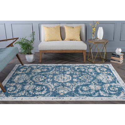 Owings Transitional Navy Area Rug Rug Size: 53 x 73