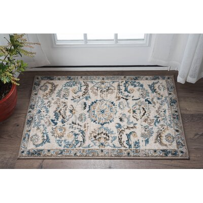 Clementine Transitional Cream Area Rug Rug Size: 710 x 103