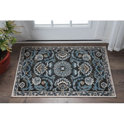 Owings Transitional Charcoal Area Rug Rug Size: 710 x 103