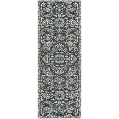 Clementine Transitional Charcoal Area Rug Rug Size: Runner 27 x 73