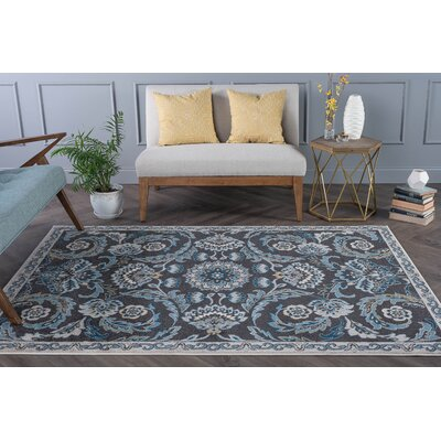 Owings Transitional Charcoal Area Rug Rug Size: 53 x 73