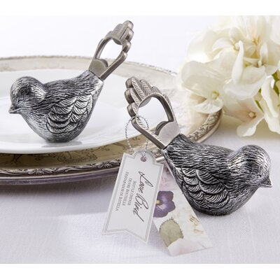 Parkey Antiqued Bird Bottle Opener (Set of 12)