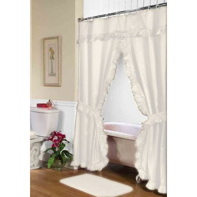 Biermann Double Swag Shower Curtain Color: Ivory
