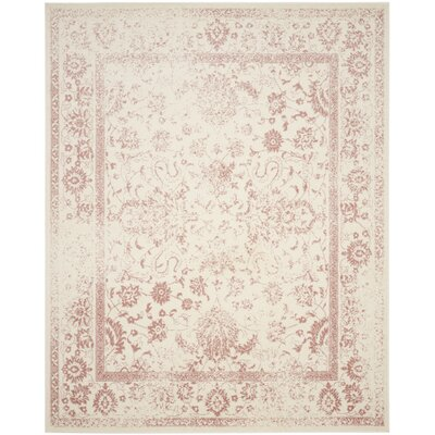 Issa Ivory/Rose Area Rug Rug Size: Rectangle 10 x 14