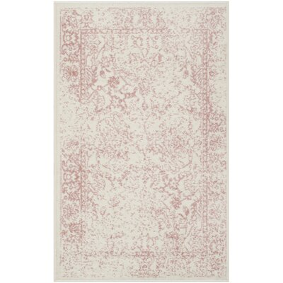 Issa Ivory/Rose Area Rug Rug Size: 26 x 4