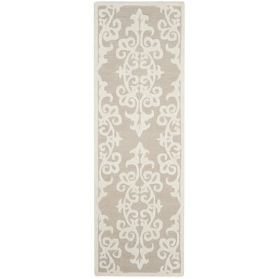Dickinson Hand-Tufted Sand/Ivory Area Rug Rug Size: Runner 23 x 7