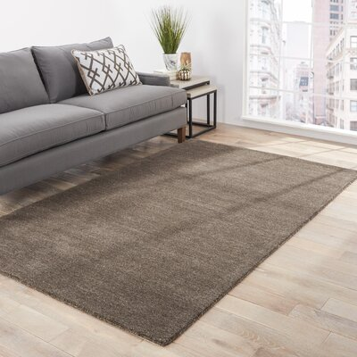 Waller Hand-Woven Wool Liquorice Area Rug Rug Size: Rectangle 5 x 8