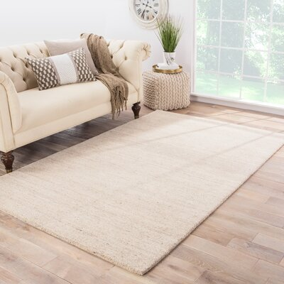 Waller Hand-Woven Moonlight Area Rug Rug Size: 8 x 10