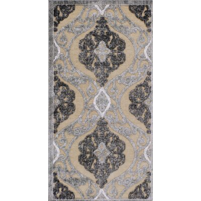 Amel Sand/Gray Area Rug Rug Size: 2 x 37