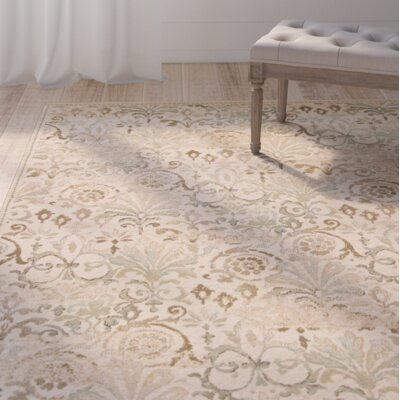Giroflee Ivory/Taupe/Sage Area Rug Rug Size: 53 x 78
