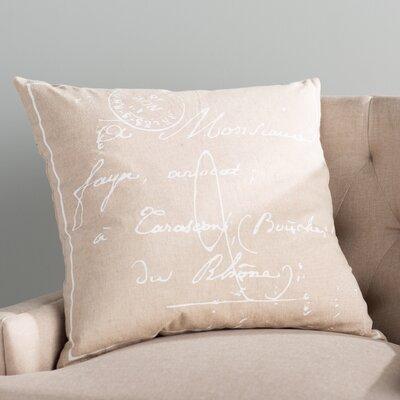 Landes 100% Cotton Throw Pillow Cover Size: 18 H x 18 W x 0.25 D, Color: NeutralBrown