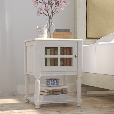 Bezons Chairside Table III Finish: Off-White