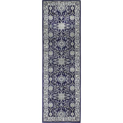 Caton Dark Blue Area Rug Rug Size: Runner 27 x 8
