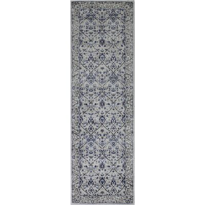 Caton Silver Gray Area Rug Rug Size: Runner 27 x 8
