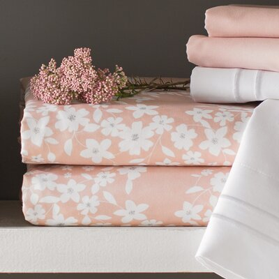 Leane Sheet Set Size: King, Color: Blush