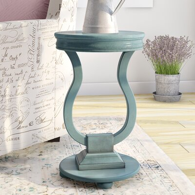 Sofiane End Table Color: Antique Caribbean Blue