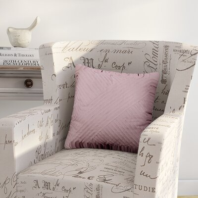 Constable Petals Cotton Throw Pillow Color: Plum