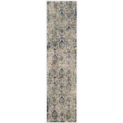 Montelimar Beige/Navy Area Rug Rug Size: Runner 2 x 8
