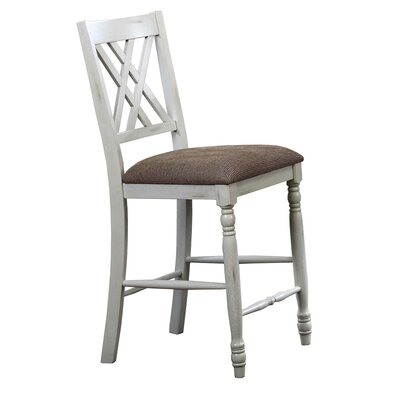 Lia 25.5 Bar Stool (Set of 2) Finish: White