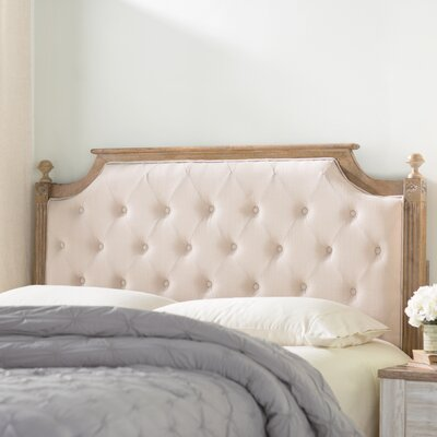 Parada Upholstered Panel Headboard Color: Beige, Size: Full