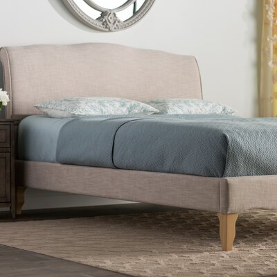 Sevan Upholstered Platform Bed Size: Full, Color: Beige