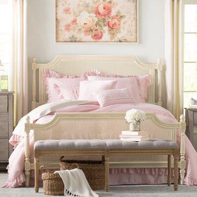 Osullivan Cane Panel Bed Size: King