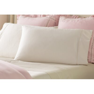 Jessy 400 Thread Count 4 Piece Sheet Set Color: Beige, Size: Queen
