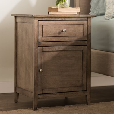 Hammond 1 Drawer Nightstand Color: Driftwood