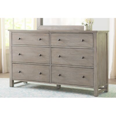 Burgundy 6 Drawer Standard Dresser