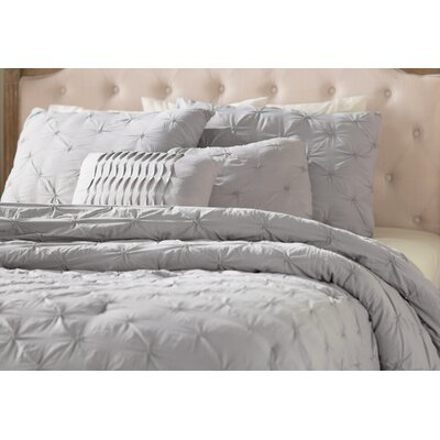 Opperman 5 Piece Comforter Set Color: Gray, Size: King