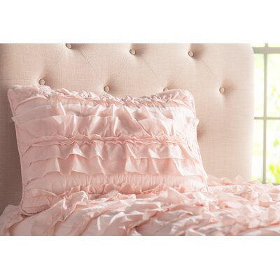 Clarksville Quilt Set Color: Pink Blush, Size: King