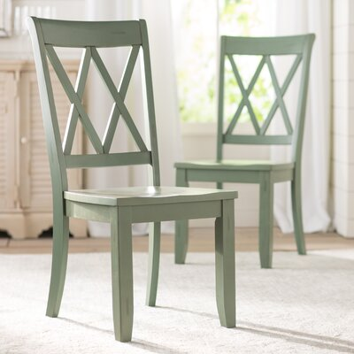 Saint-Gratien Side Chair (Set of 2) Finish: Green