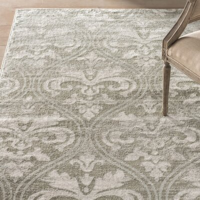 Angelique Gray Area Rug Rug Size: 9 x 12
