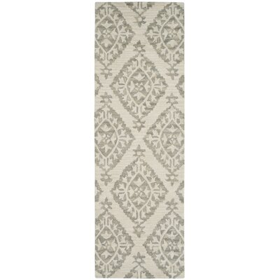 Peltz Hand-Tufted Gray Area Rug Rug Size: Runner 23 x 7