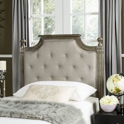 Parada Upholstered Panel Headboard Color: Taupe, Size: Queen