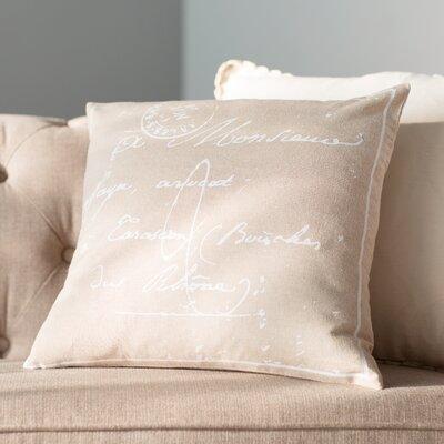 Landes 100% Cotton Pillow Cover Size: 22 H x 22 W x 0.25 D, Color: NeutralBrown