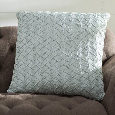 Lilas Cotton Voile Throw Pillow Color: Aqua
